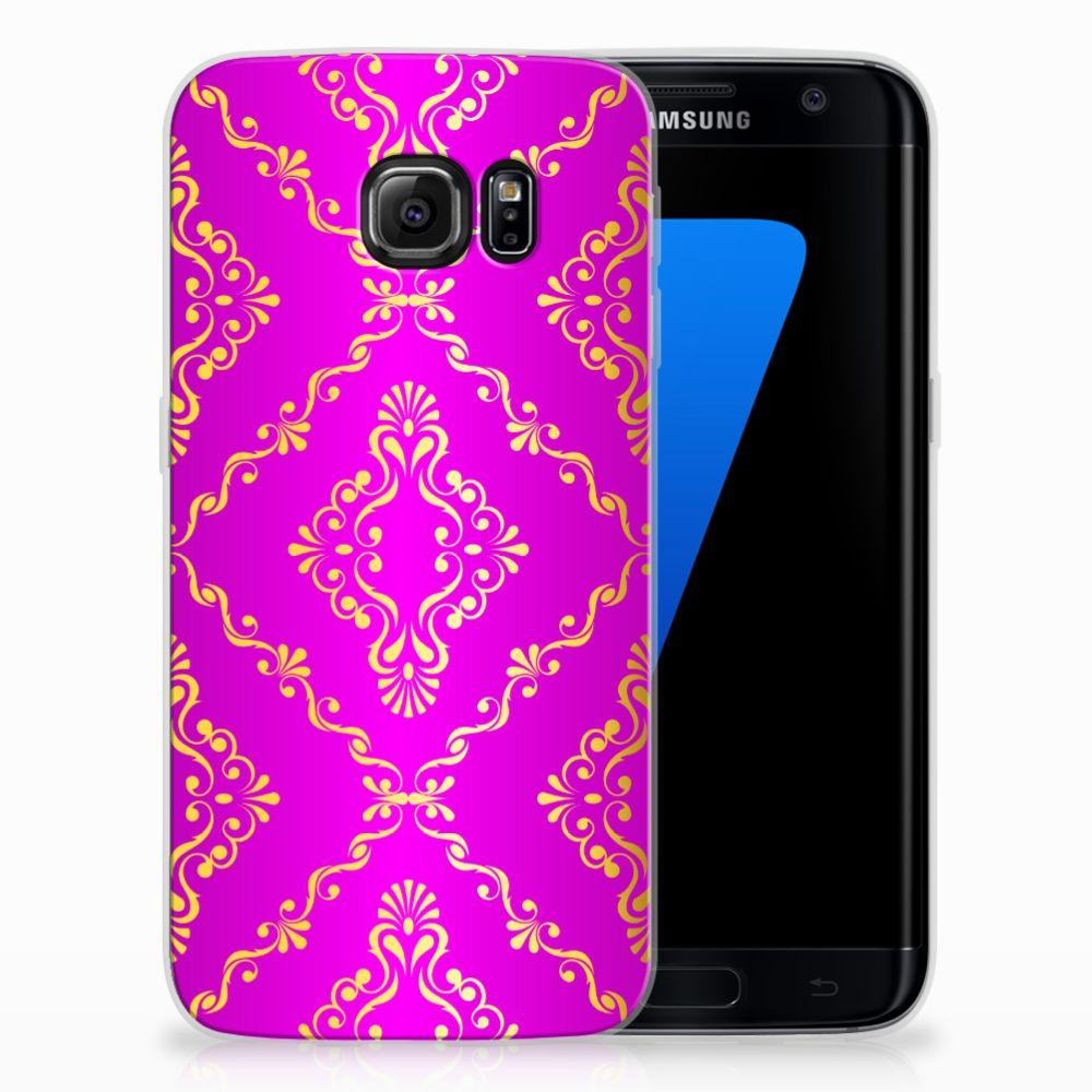 Siliconen Hoesje Samsung Galaxy S7 Edge Barok Roze