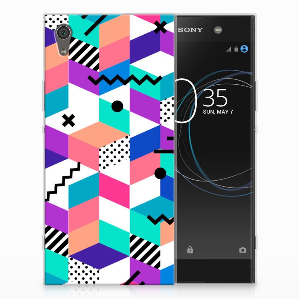 Sony Xperia XA1 Ultra TPU Hoesje Blokken Kleurrijk