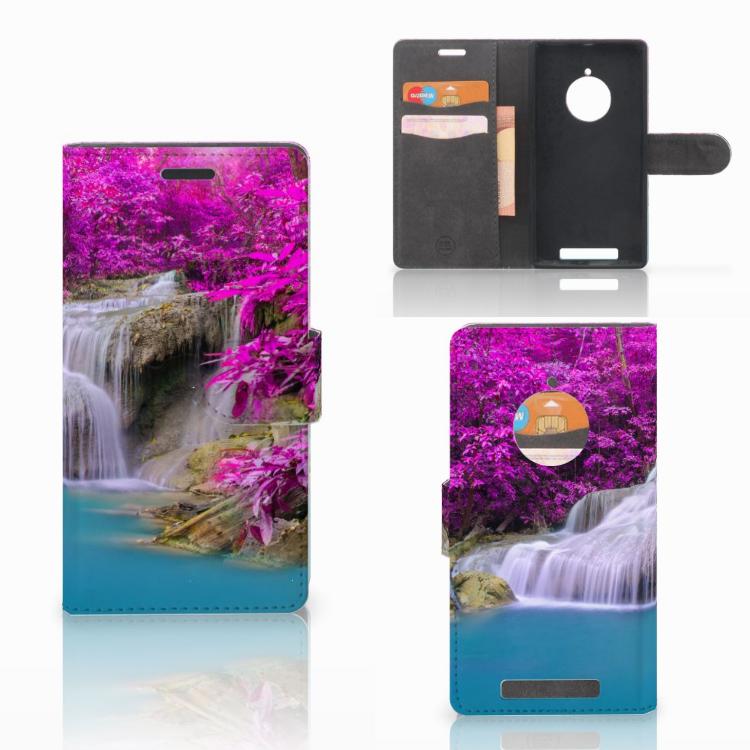 Huawei Ascend Y530 Uniek Ontworpen Hoesje Pasjeshouder Orchidee