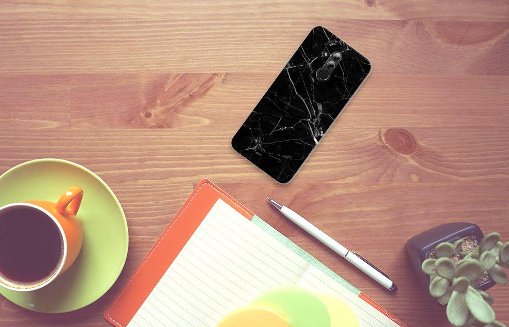 Huawei Mate 20 Lite TPU Siliconen Hoesje Marmer Zwart