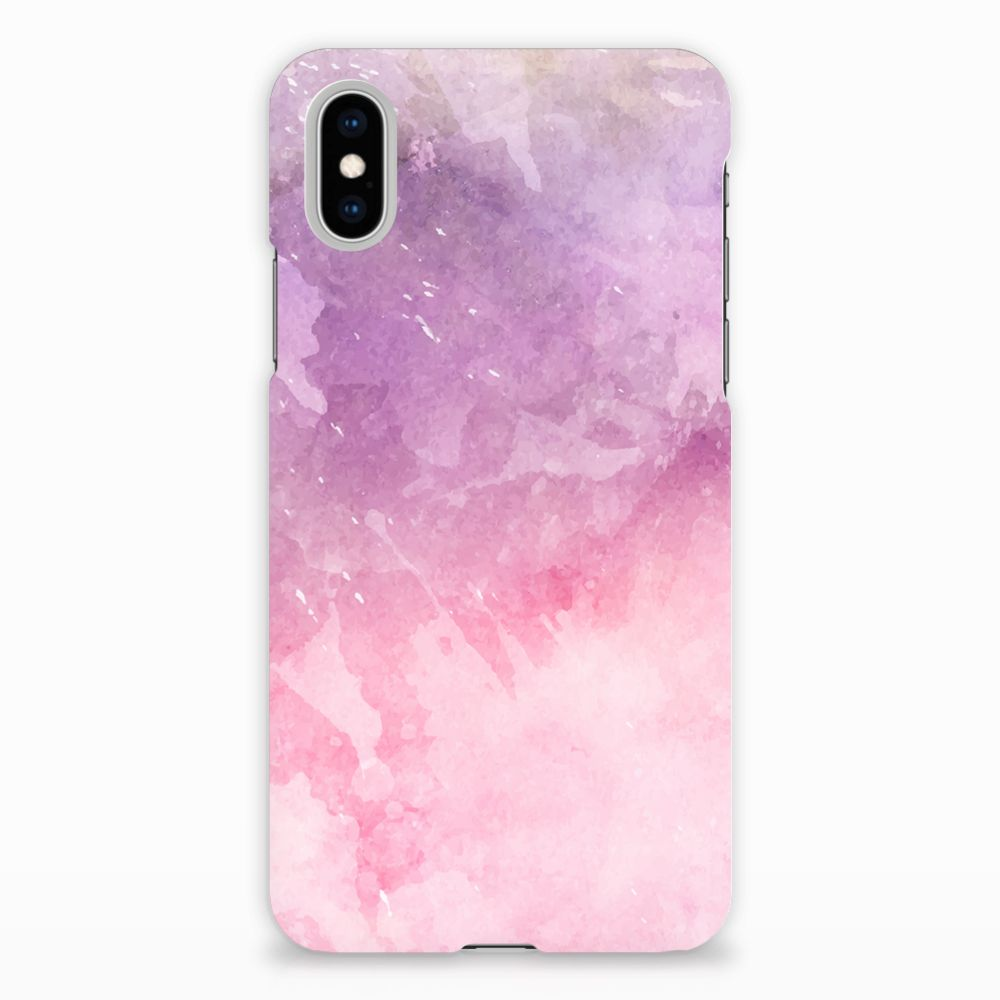 Apple iPhone X | Xs Hardcase Hoesje Design Pink Purple Paint