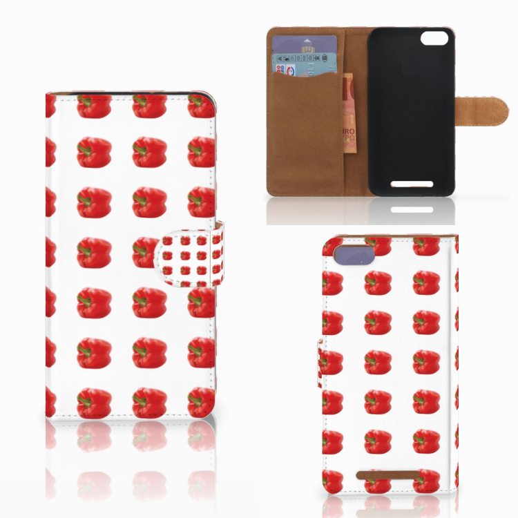 Wiko Lenny 3 Book Cover Paprika Red