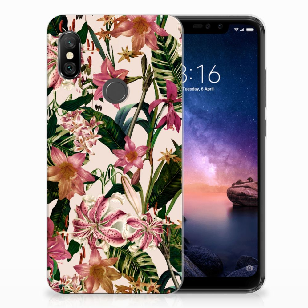 Xiaomi Redmi Note 6 Pro Uniek TPU Hoesje Flowers