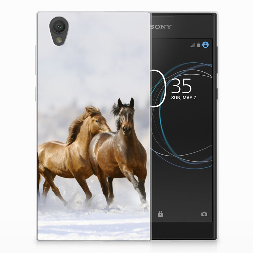 Sony Xperia L1 TPU Hoesje Paarden
