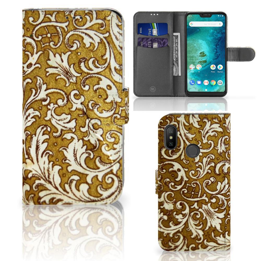 Wallet Case Xiaomi Mi A2 Lite Barok Goud