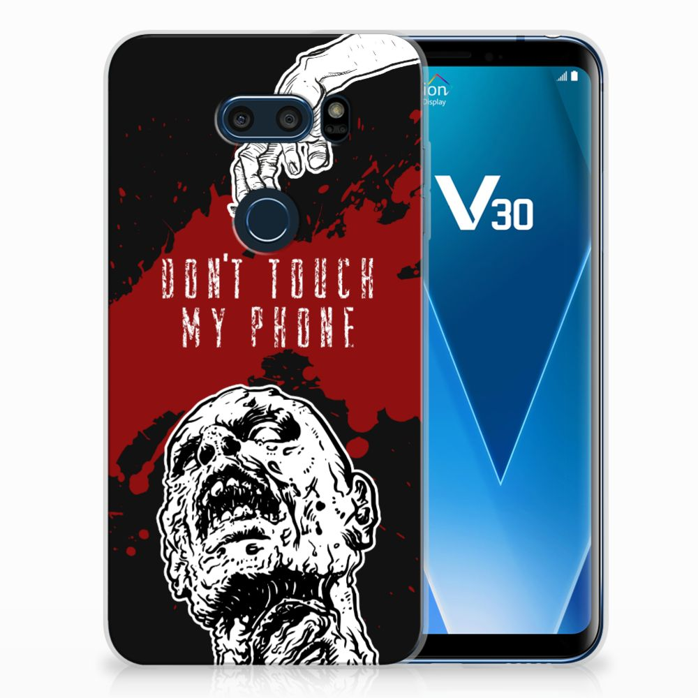 LG V30 TPU Hoesje Design Zombie Blood