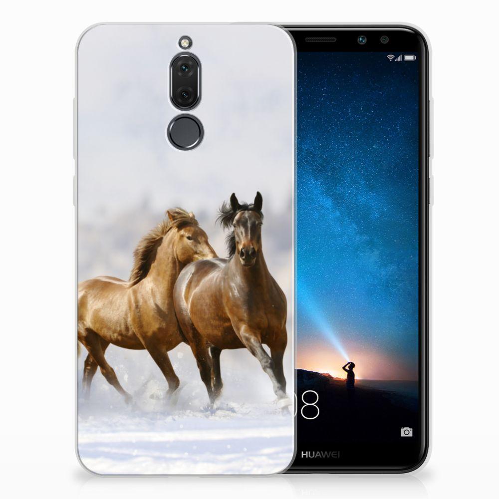Huawei Mate 10 Lite Uniek TPU Hoesje Paarden