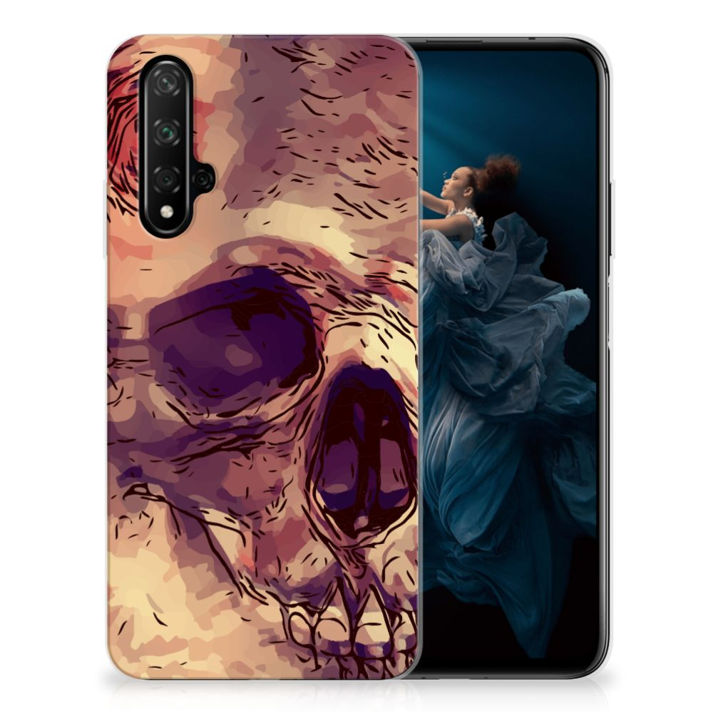 Silicone Back Case Honor 20 Skullhead