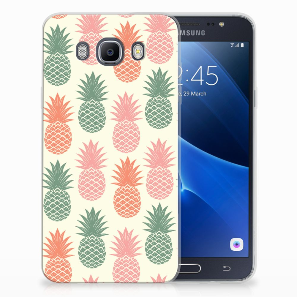 Samsung Galaxy J7 2016 TPU Hoesje Design Ananas
