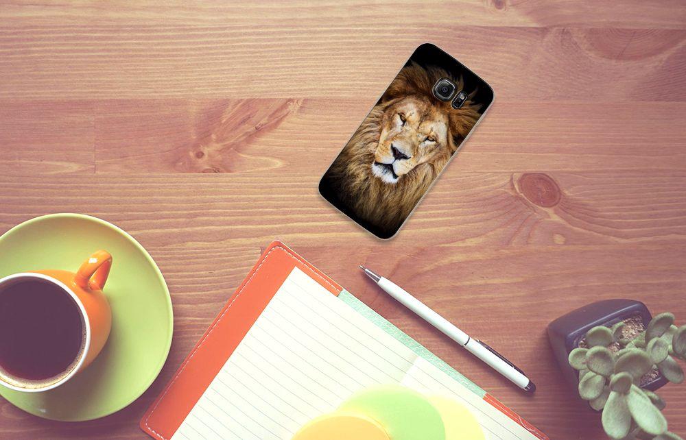 Samsung Galaxy S7 Edge TPU Hoesje Design Leeuw