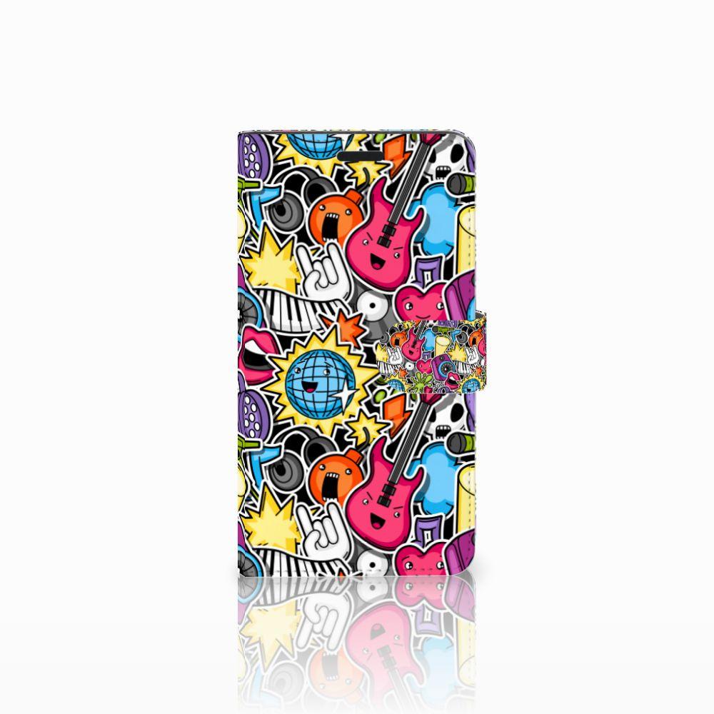 Sony Xperia T3 Uniek Boekhoesje Punk Rock
