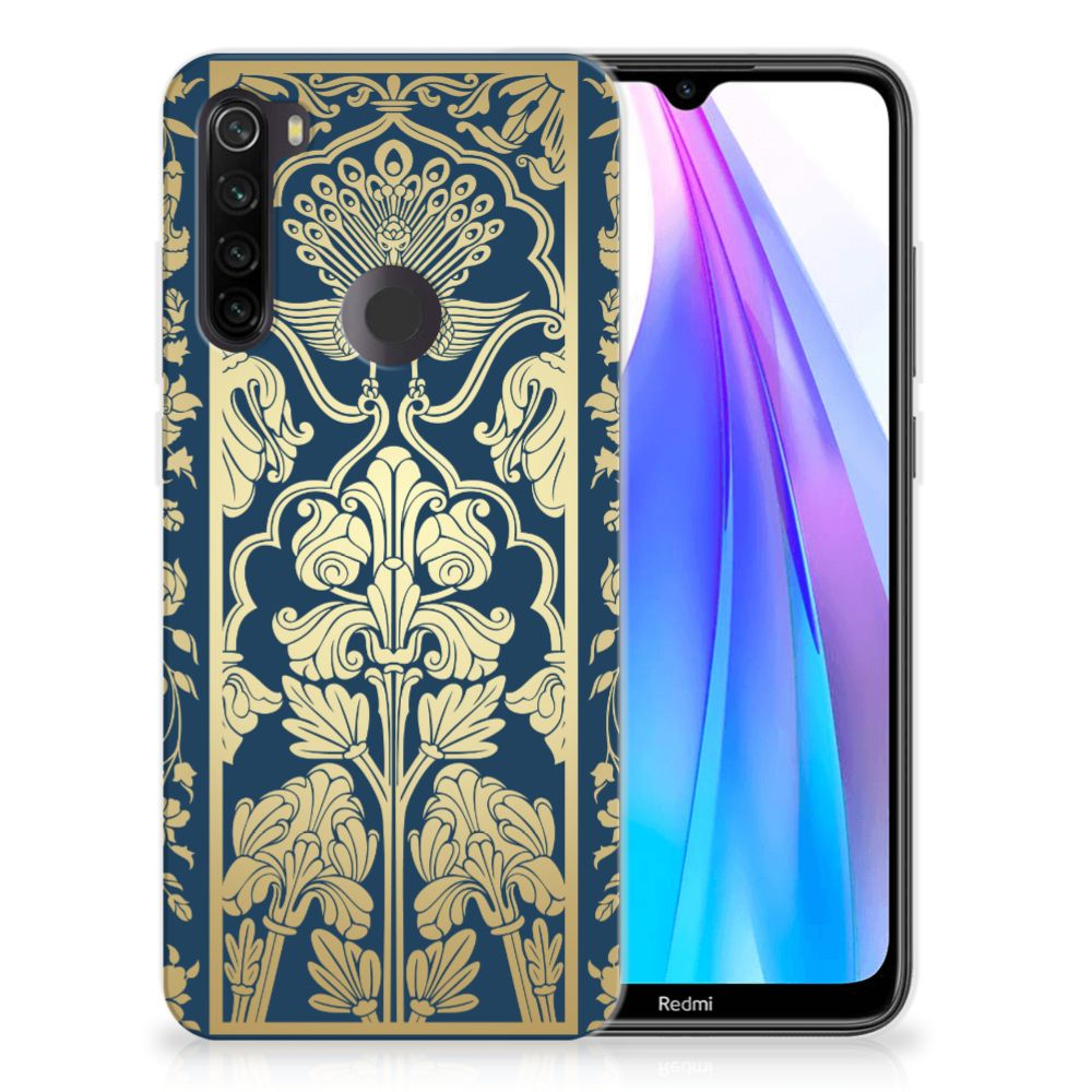 Xiaomi Redmi Note 8T TPU Case Golden Flowers