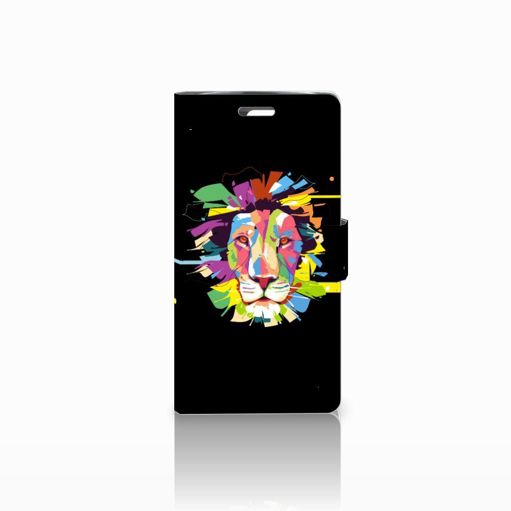 LG K10 2015 Uniek Boekhoesje Lion Color