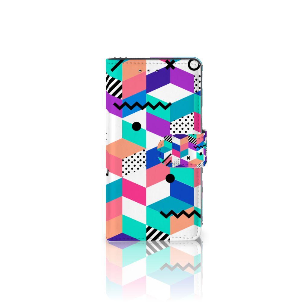 Motorola Moto G 3e Generatie Boekhoesje Design Blocks Colorful