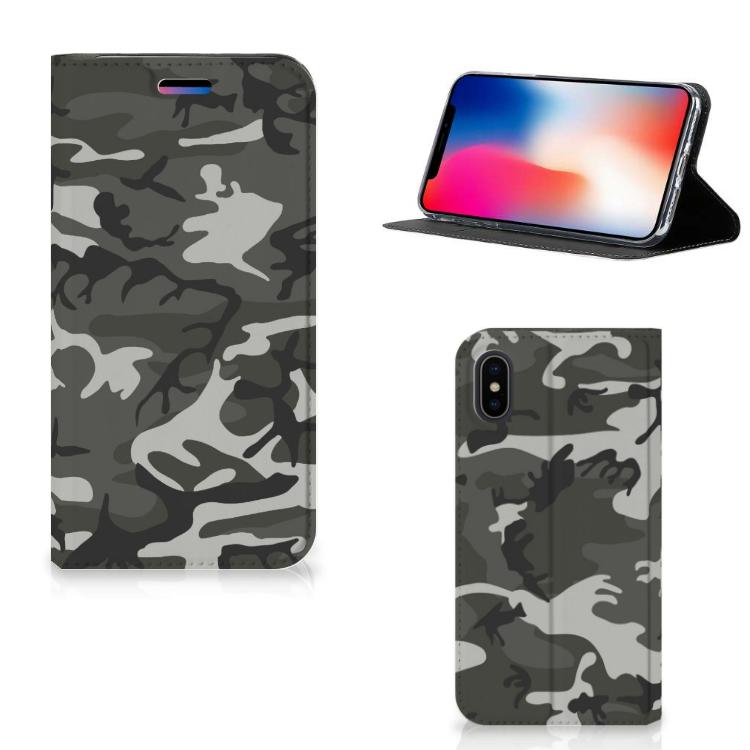 Apple iPhone X | Xs Hoesje met Magneet Army Light