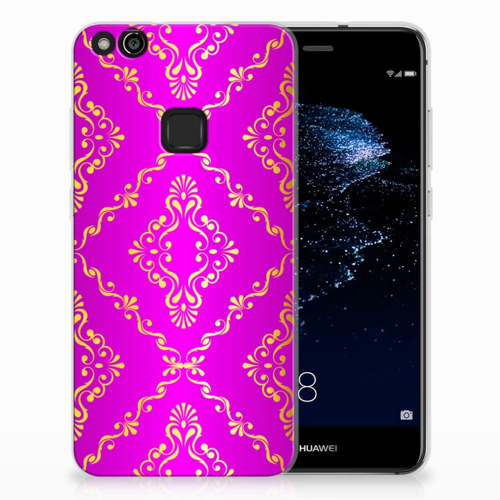 Huawei P10 Lite Uniek TPU Hoesje Barok Roze