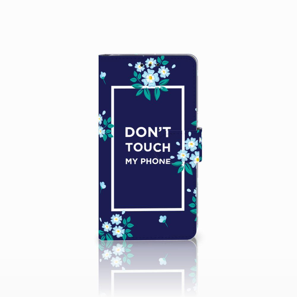 LG G4 Boekhoesje Flowers Blue DTMP