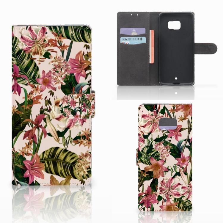 HTC U Ultra Hoesje Flowers