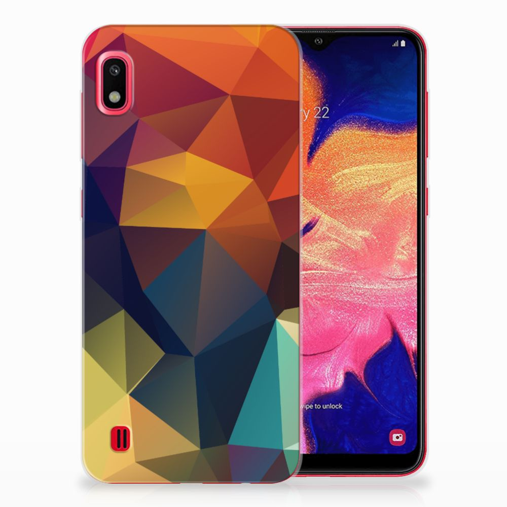 Samsung Galaxy A10 TPU Hoesje Polygon Color
