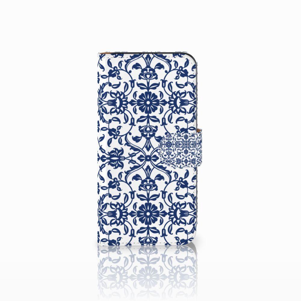 Samsung Galaxy E5 Boekhoesje Flower Blue
