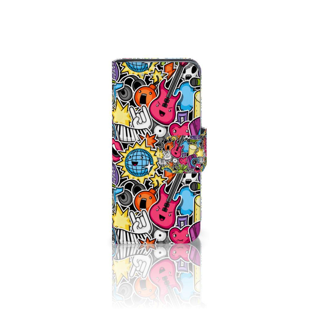 Samsung Galaxy S4 Mini i9190 Uniek Boekhoesje Punk Rock