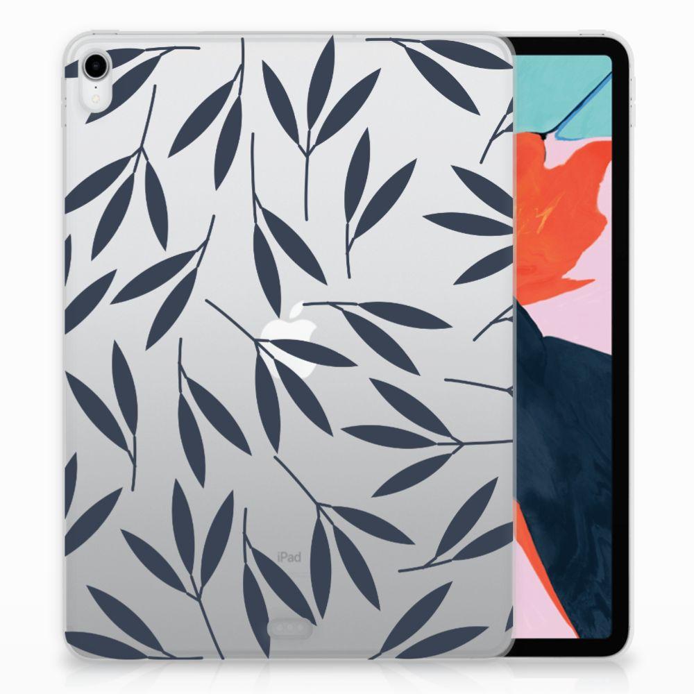 Apple iPad Pro 11 inch (2018) TPU Hoesje Design Leaves Blue