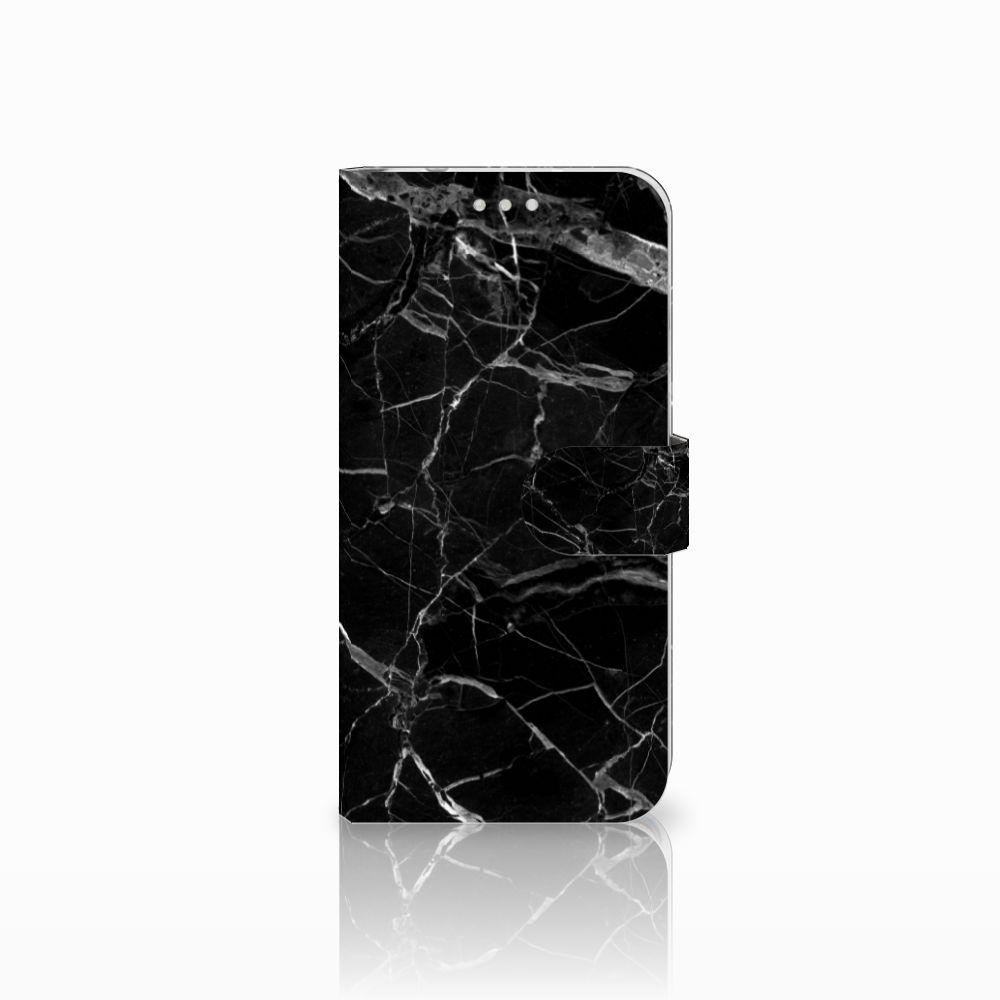Huawei P20 Pro Uniek Boekhoesje Marmer Zwart