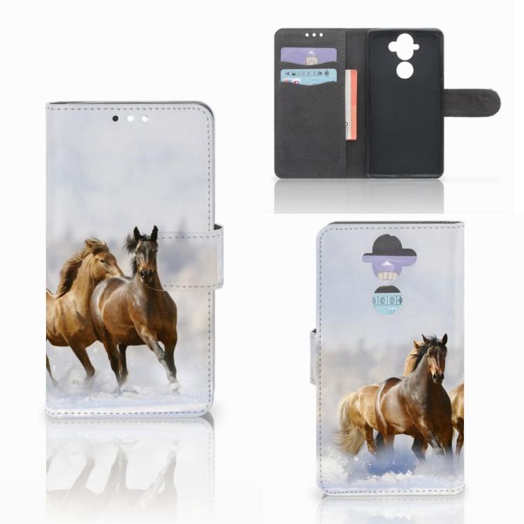 Nokia 8 Sirocco | Nokia 9 Telefoonhoesje met Pasjes Paarden