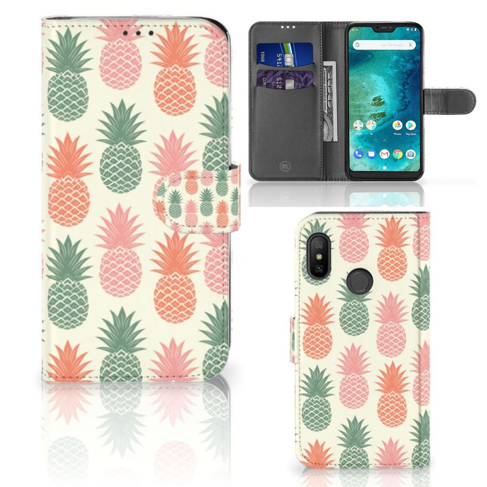 Xiaomi Mi A2 Lite Book Cover Ananas