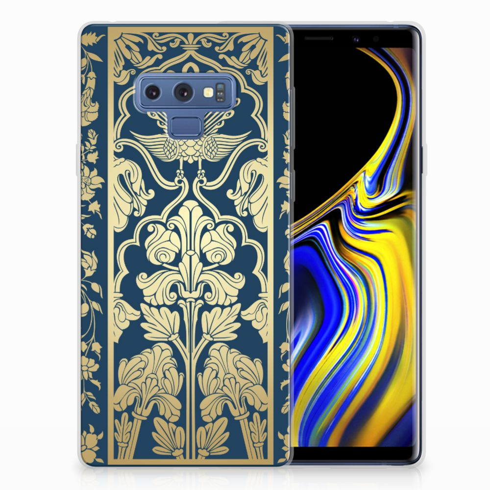 Samsung Galaxy Note 9 TPU Case Golden Flowers