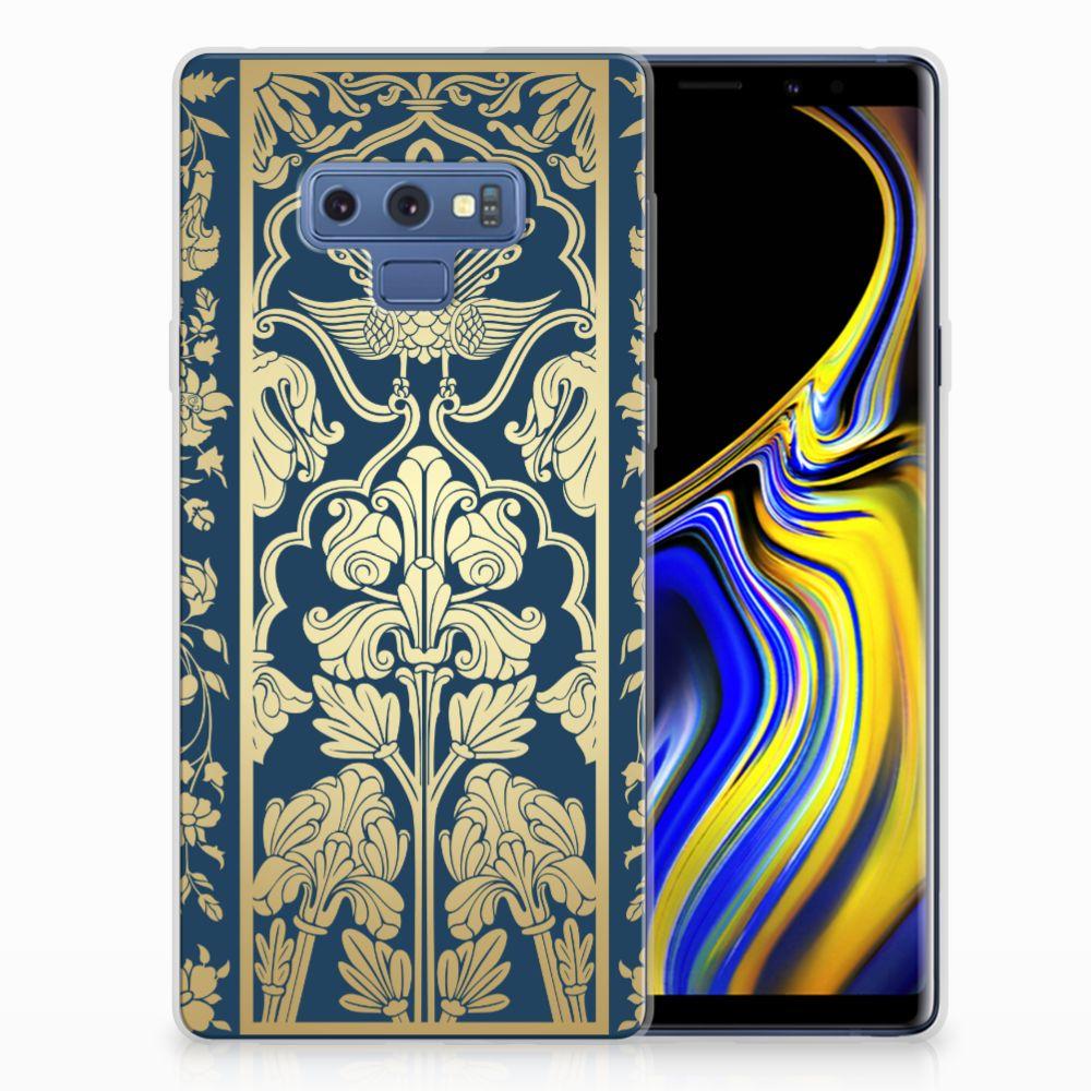 Samsung Galaxy Note 9 TPU Hoesje Golden Flowers