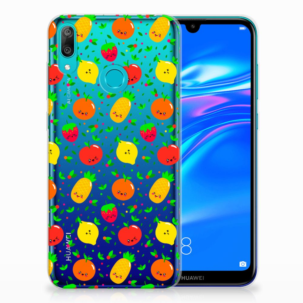 Huawei Y7 2019 Siliconen Case Fruits
