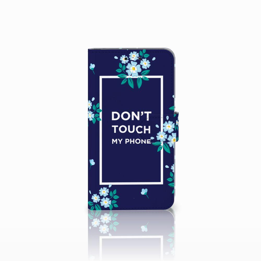 Motorola Moto G4 | G4 Plus Boekhoesje Flowers Blue DTMP