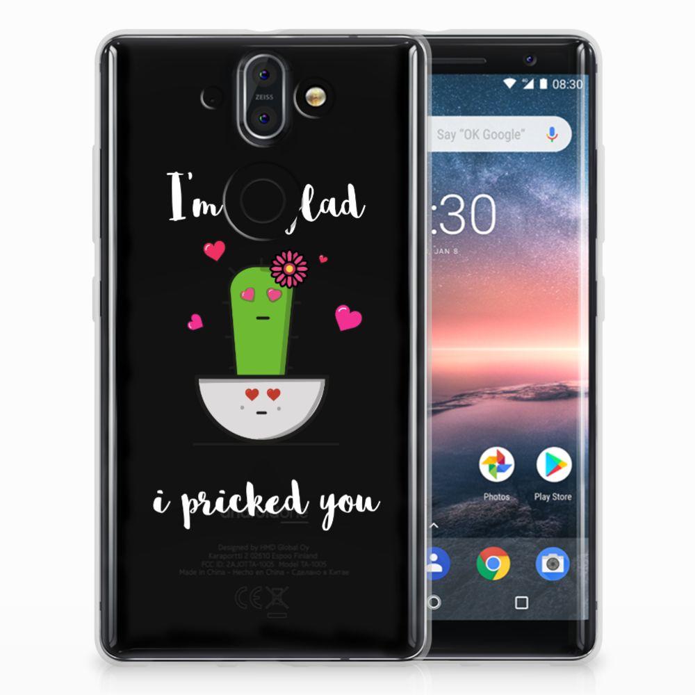 Nokia 9 | 8 Sirocco TPU Hoesje Design Cactus Glad