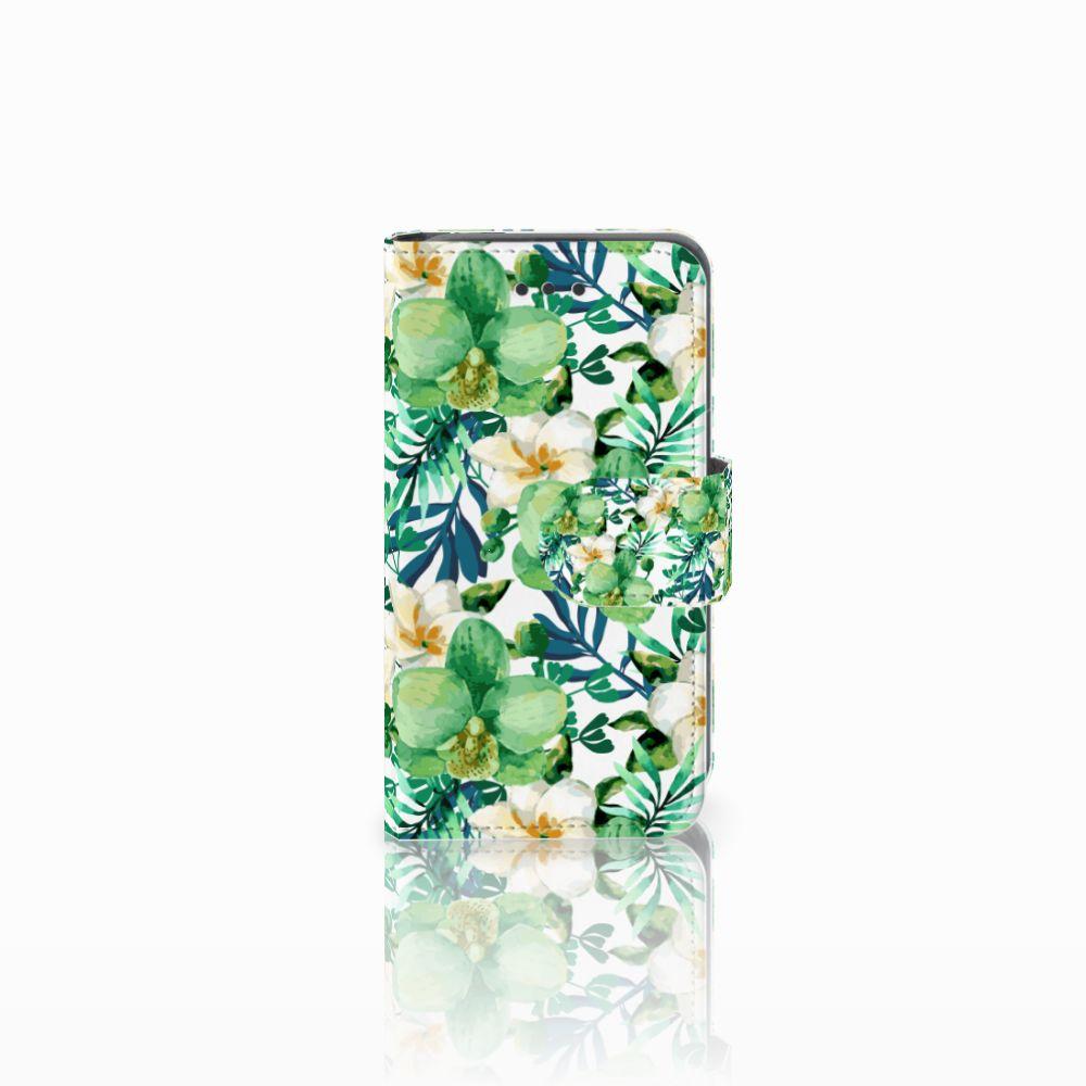 Nokia Lumia 530 Uniek Boekhoesje Orchidee Groen