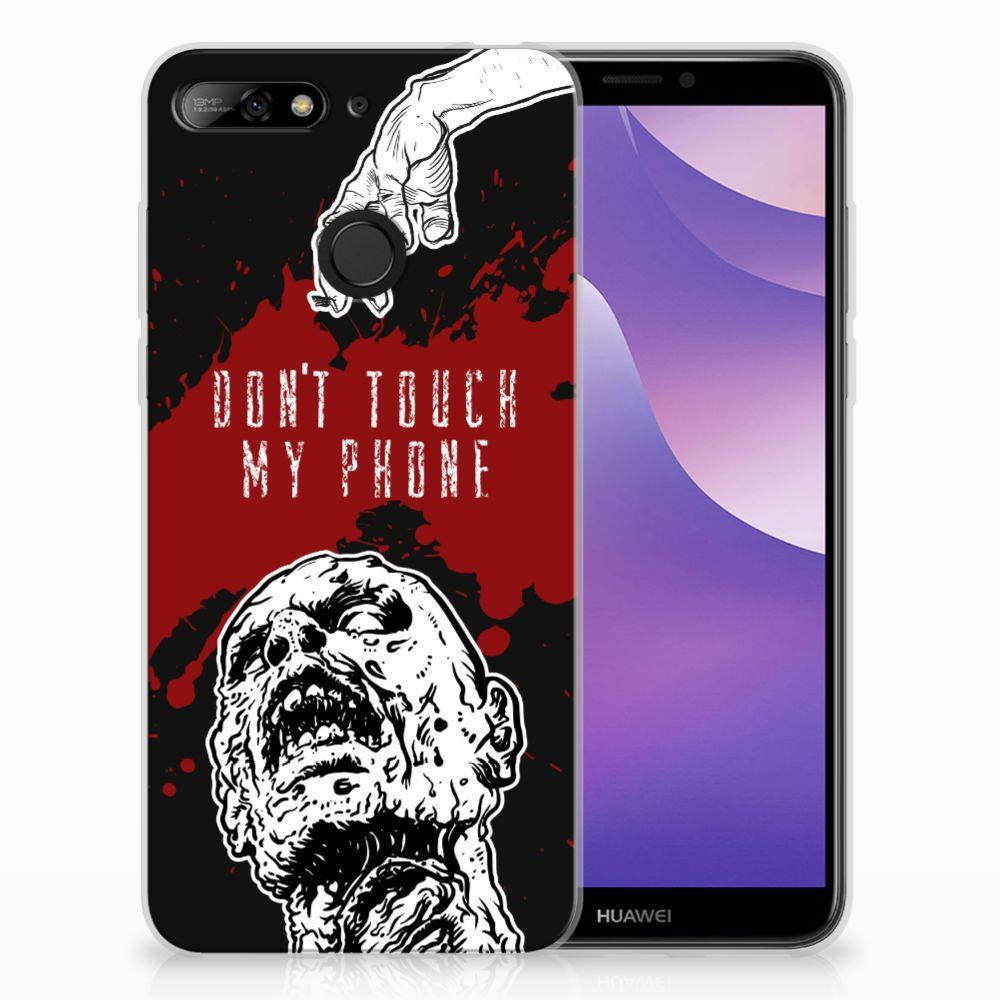 Huawei Y6 (2018) TPU Hoesje Design Zombie Blood