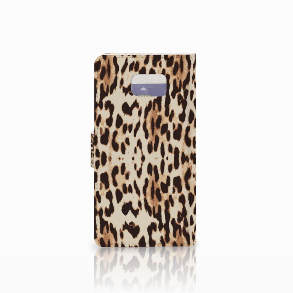 Samsung Galaxy Note 5 Telefoonhoesje met Pasjes Leopard