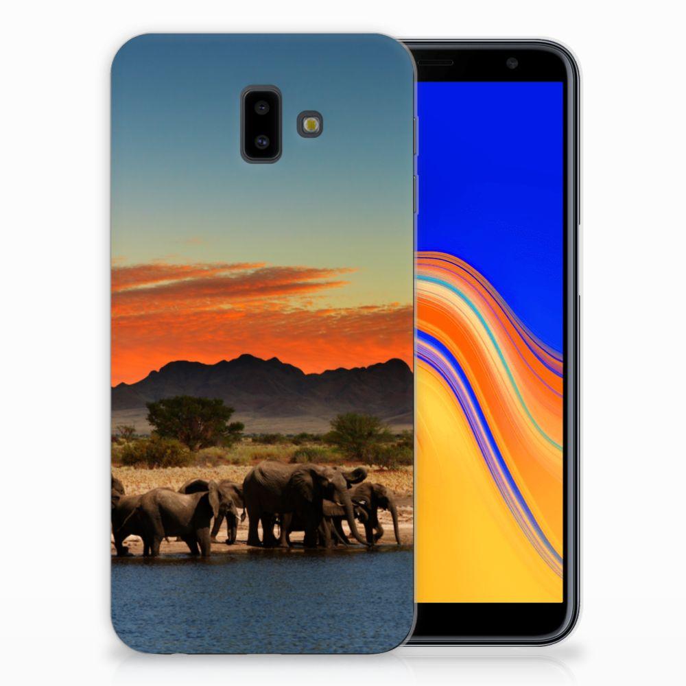 Samsung Galaxy J6 Plus (2018) Leuk Hoesje Olifanten