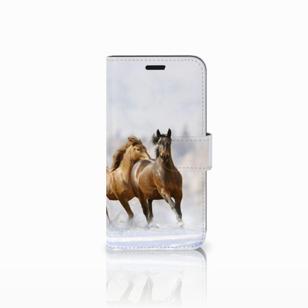 Huawei Nova Uniek Boekhoesje Paarden