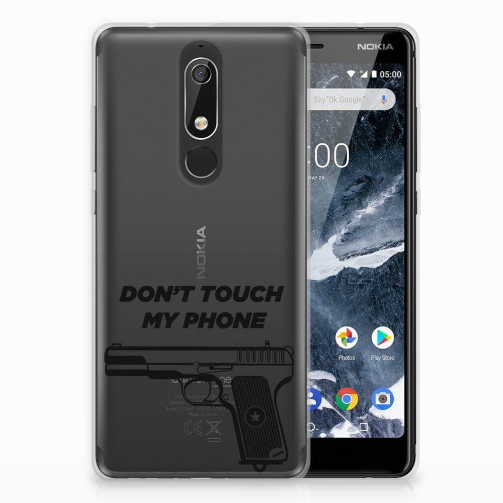 Nokia 5.1 (2018) Uniek TPU Hoesje Pistol DTMP