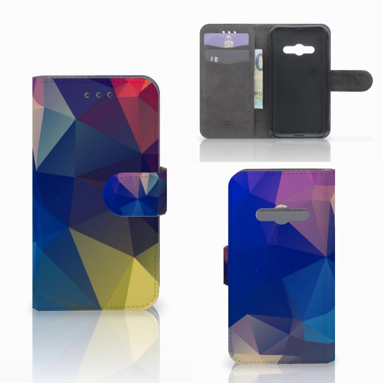 Samsung Galaxy Xcover 3 | Xcover 3 VE Bookcase Polygon Dark