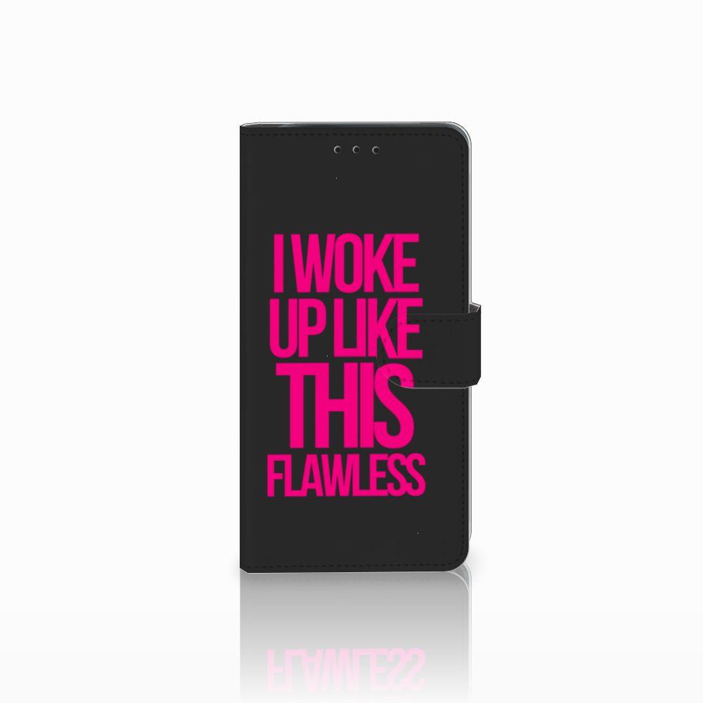 Samsung Galaxy J6 Plus (2018) Uniek Boekhoesje Woke Up