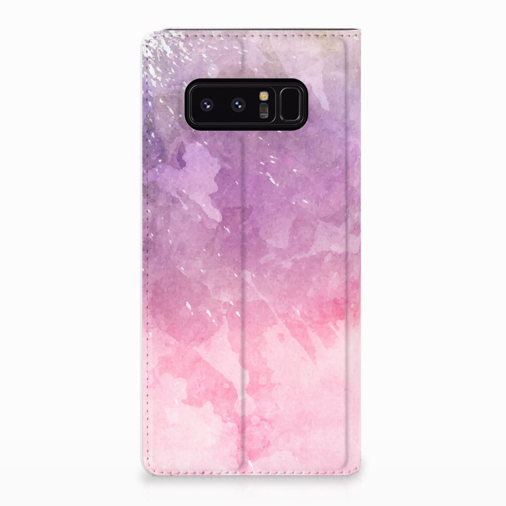 Samsung Galaxy Note 8 Standcase Hoesje Design Pink Purple Paint