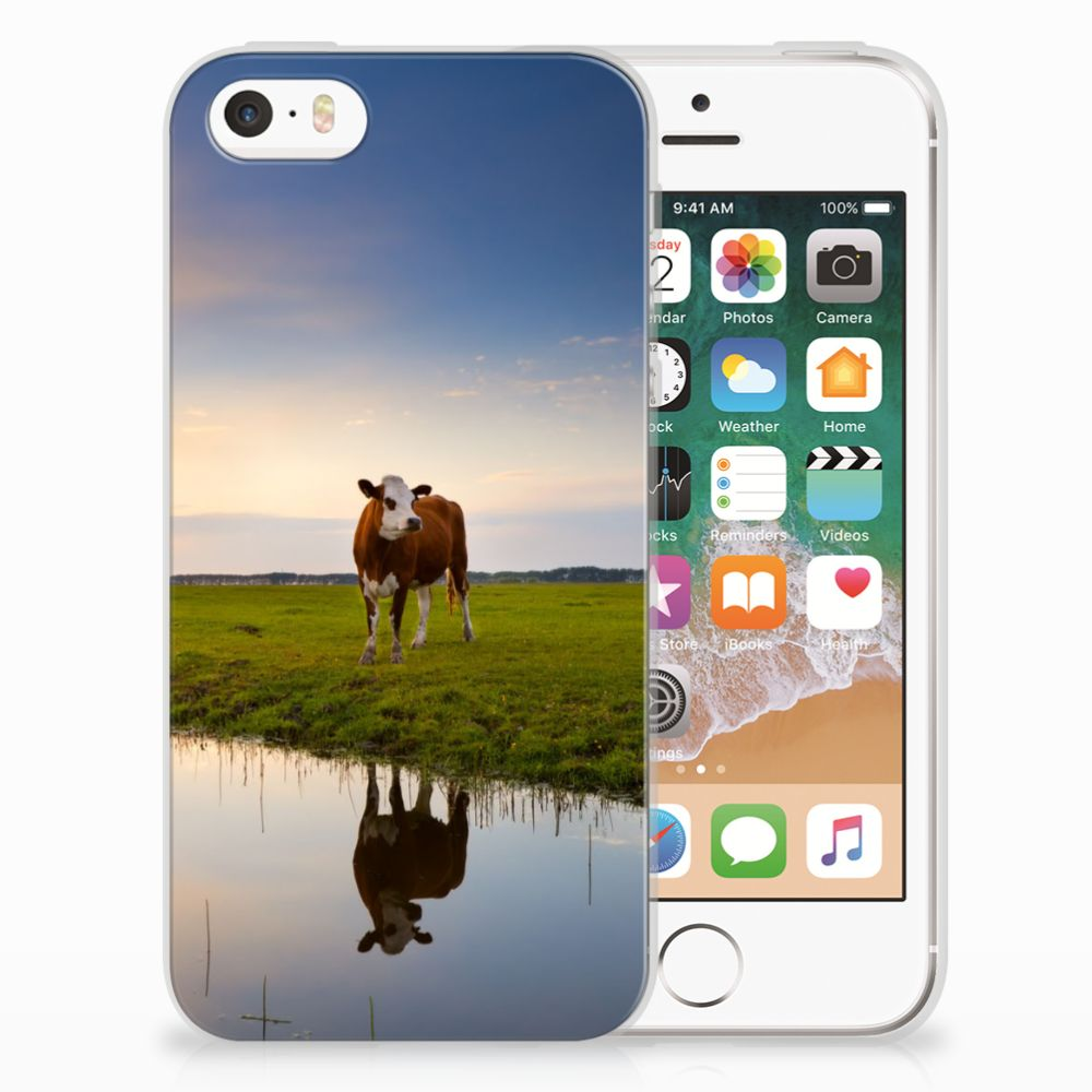 Apple iPhone SE   5S TPU Hoesje Koe