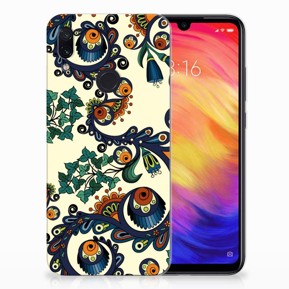 Siliconen Hoesje Xiaomi Redmi Note 7 Barok Flower