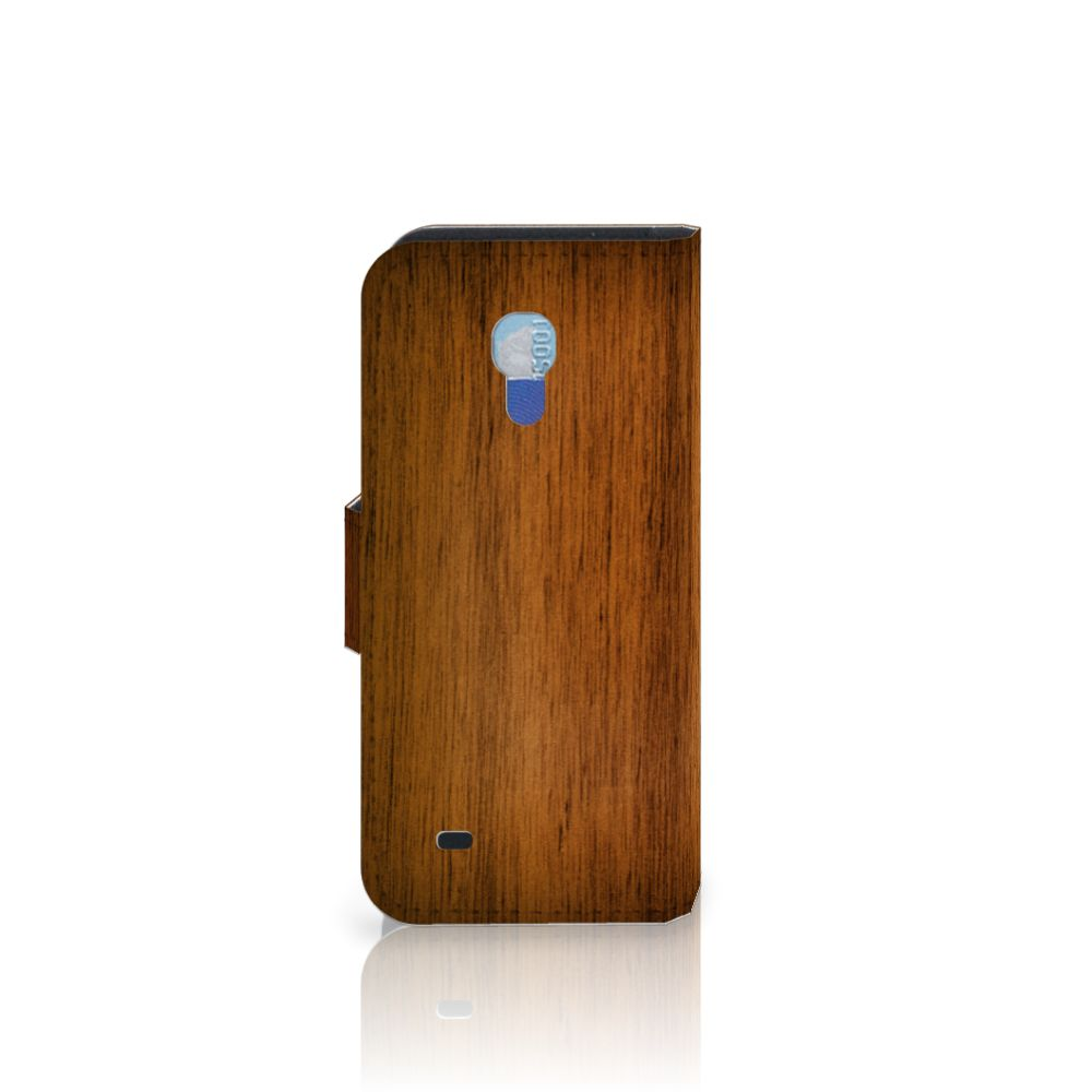 Samsung Galaxy S4 Mini i9190 Book Style Case Donker Hout