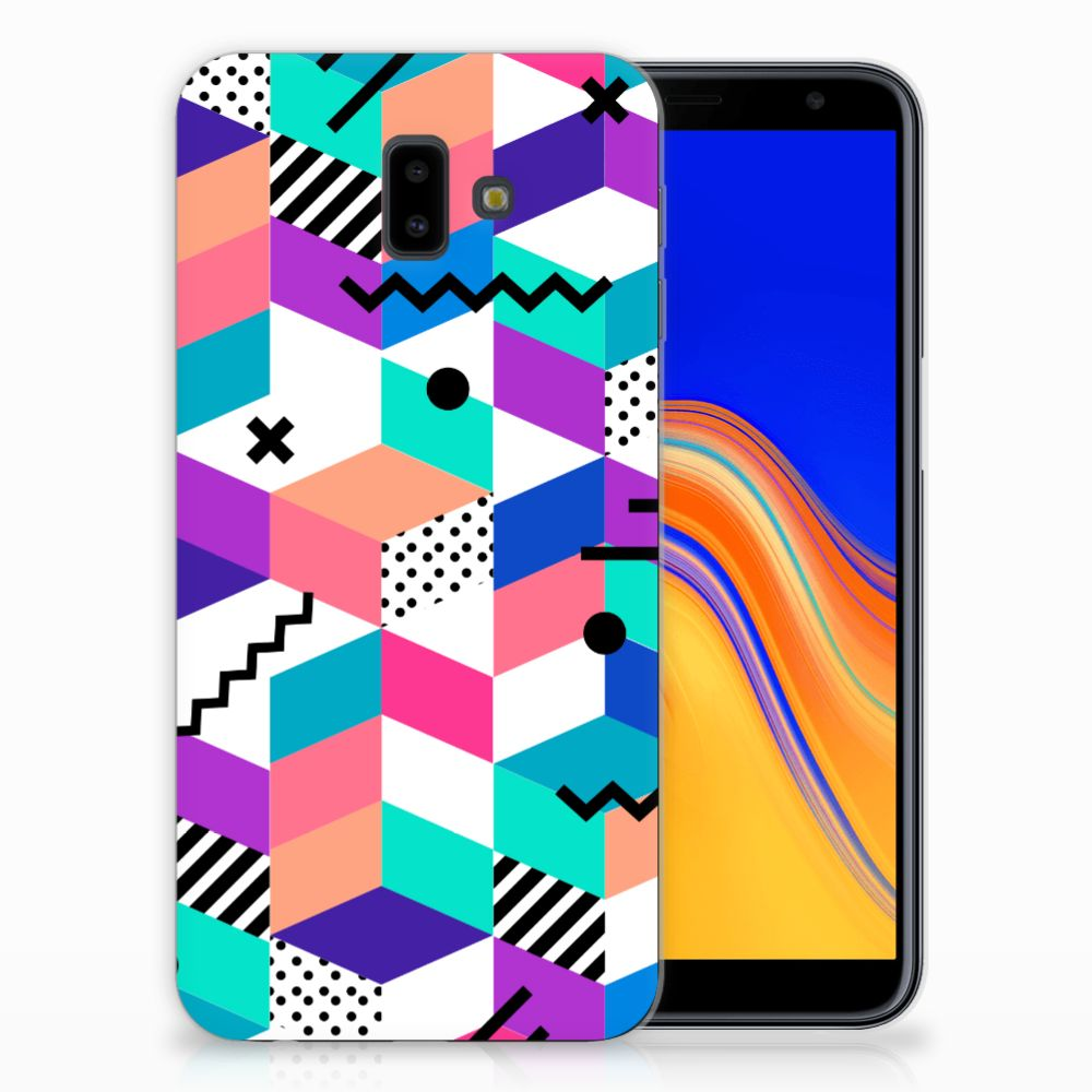 Samsung Galaxy J6 Plus (2018) TPU Hoesje Design Blocks Colorful