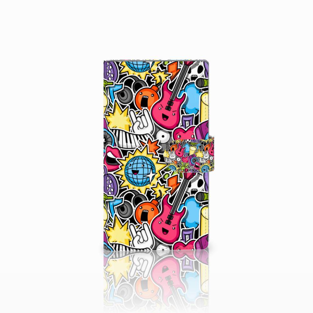Sony Xperia L2 Uniek Boekhoesje Punk Rock