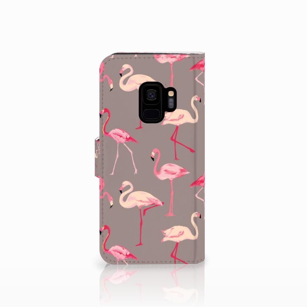 Samsung Galaxy S9 Telefoonhoesje met Pasjes Flamingo