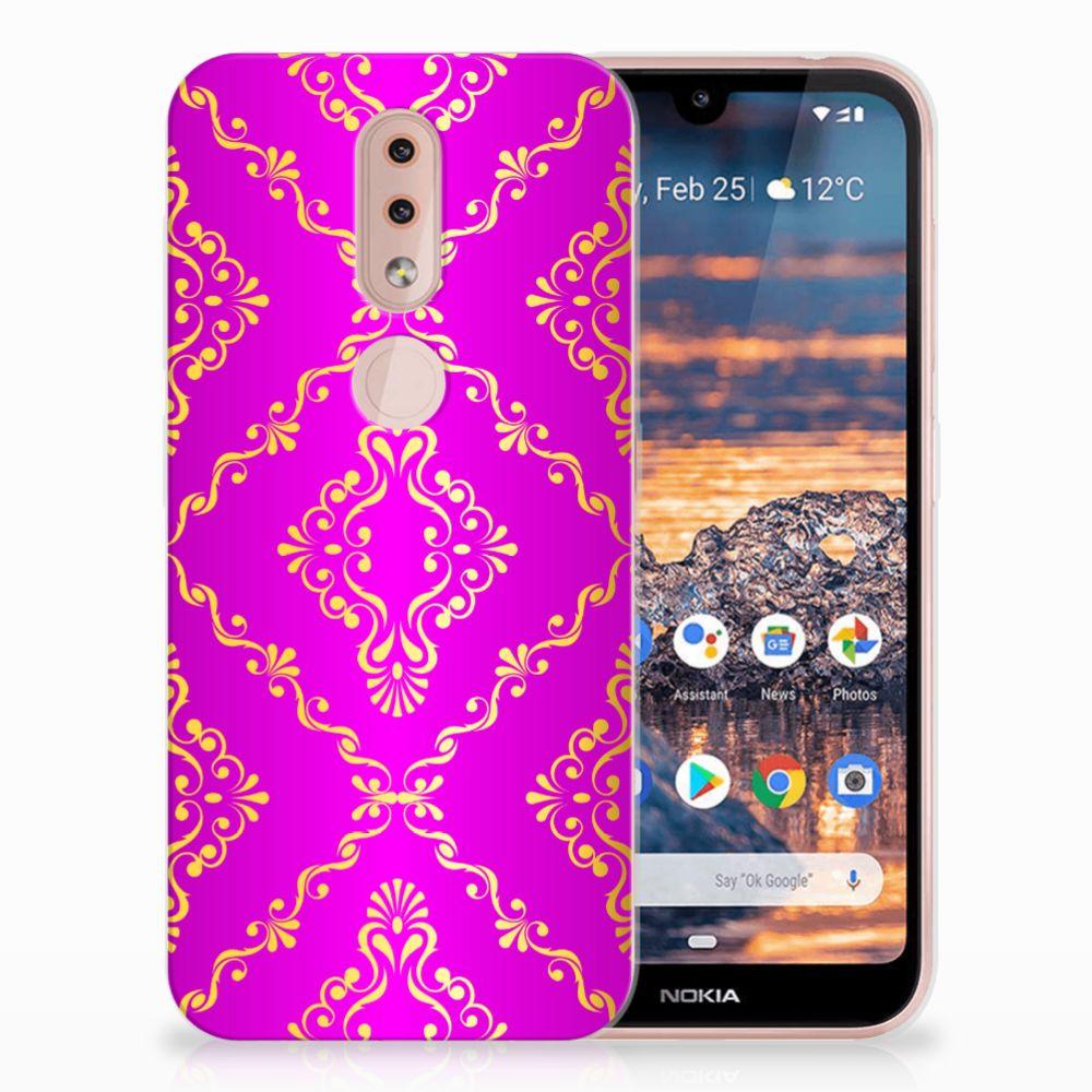 Siliconen Hoesje Nokia 4.2 Barok Roze